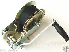 2000LB  Hand Winch Synthetic Strap Belt Heavy Duty for Boat Trailer 4WD