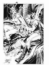 STAN PITT FLASH GORDON PRINT - 1972 - cardstock 8 x 11 - Stanley Pitt