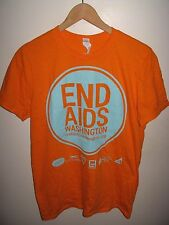 End AIDS Washington Tee - LGBT Gay Pride Seattle USA Neon Muscle T Shirt Small