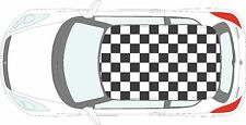 Car Checkered Flag - 57 individual square vinyl stickers decals for roof of car