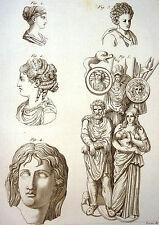 Encyclopédie Méthodique Antiquités Mythologie Coiffures Romain Grec Barbare 1786