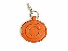 Alphabet/Initial C Handmade Leather Keychain/Charm *VANCA* Made in Japan #26374