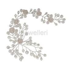Wedding Bridal Crystal Pearl Flower Hair Accessory Headband Tiara Headpiece