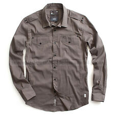 G-STAR RAW COTTON SHIRT PRIME COMFORT POPLIN OXIDE GREY SIZE  M /MEDIUM