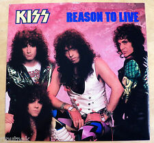 "45 rpm 12"" EP record KISS Reason to Live 4-songs NEW OLD STOCK w/ picture sleeve"