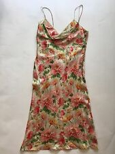 Christian Dior Floral Silk Dress Pink/Green Size 8