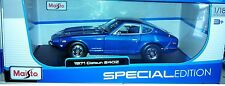 1971 Datsun 240Z Fairlady Coupe Die-cast Car 1:18 Maisto 9 inches Blue