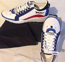 scarpe da uomo DSQUARED sneaker numero 42 COLORE BIANCO new dettaglio Rosso Blu