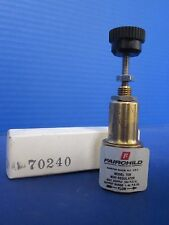 Fairchild 70B Subminiature Pressure Regulator, 1-60 psig, Lot of 2