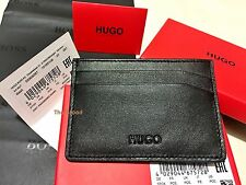 Hugo Boss Men's 'Basit' Black Leather Card Holder Wallet BOSS BLACK