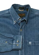 TIMBERLAND Jean Shirt Small Rugged Fit Weather Gear Denim Western