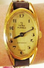 Vintage 1960's Ladies France GP Yema Mechanical with Lorsa 8F movt Watch