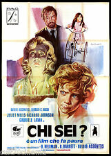 CHI SEI? MANIFESTO CINEMA HORROR THRILLER 1974 BEYOND THE DOOR MOVIE POSTER 4F
