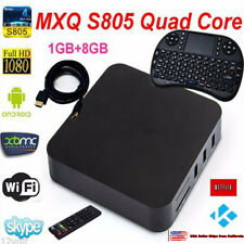 S805 Smart TV BOX Android XBMC Quad Core 8GB 1080P 4K Media Player+ Keyboard