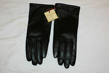 BNWT DENTS Ladies Black Leather Gloves. Size S. Gift Idea!