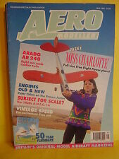AEROMODELLER MAY 1992 CHARLOTTE BROUGH MISS PLANS ARADO AR 240 DPR MODELS JANINE