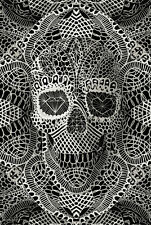 LACE SKULL POSTER - 24x36 GOTHIC FANTASY ART 10690
