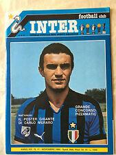 RIVISTA INTER FOOTBALL CLUB N.11 11/1980 GRAZIANO BINI FRAIZZOLI CASO MARINI