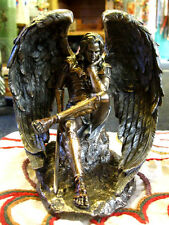 LUCIFER FALLEN ANGEL STATUE Figure Ornament SATAN Mythology PAGAN Occult WICCAN