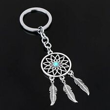 Silver Charm gift Dream Catcher Keyring Feather Tassels Key Chain Ring Keychain
