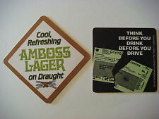Vintage Beer Bar Coaster: Hydes' Anvil Amboss Lager on Draught ~ OUT OF BUSINESS
