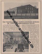 Forto Geldschrank Tresor Safe Kiel 2 Seiten Große Werbeanzeige anno 1923 Reklame