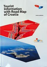 NEW 2015~CROATIA TOURISM BOOKLET WITH MAP~UNESCO Sites,Hiking,Skiing,Fishing,Spa