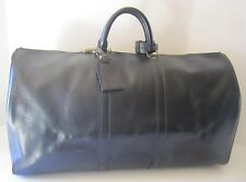 LOUIS VUITTON KEEPALL 55  BLACK EPI LEATHER WITH LOCK AND KEY VI8901
