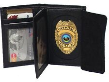 Elegant Faux Leather Badge Wallet for Firefighters, Police etc. #4722 USD