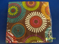 Modern Motif Brown Bright Dots General Garden Party Paper Luncheon Napkins