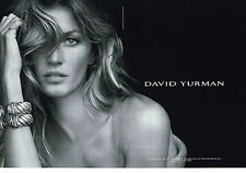 PUBLICITE ADVERTISING  2013   DAVID YURMAN joaillier ( 2 pages)