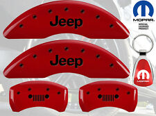 MGP Caliper Cover Black Fill on Red Paint For 2014 - 2017 Jeep Cherokee