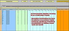 LGx Warenwirtschaft, Lagerkartei, Sortiment, Waren, Datenbank, Lager