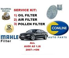 FOR AUDI A5 2.0 COUPE CABROILET SPORT 2008- ON OIL AIR POLLEN FILTER SERVICE KIT