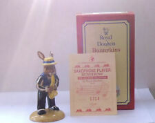 ROYAL DOULTON BUNNYKINS DB186 SAXOPHONE PLAYER FROM JAZZ BAND EXCELLENT BOXED
