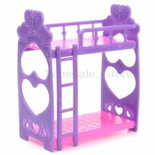 Plastic Bunk Bed w/ Ladder 1:6 For Barbie Doll's House Dollhouse Furniture