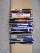 LOT OF (14) BALL POINT PENS WITH BUSINESS ADVERTISEMENTS (SET AC)