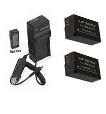 TWO 2X DMW-BLC12 DMW-BLC12E  DMW-BLC12PP Batteries + Charger for Panasonic
