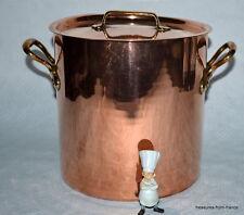 French copper pan 7lt marmite mauviel stock pot faitout 2 gallon cuivre