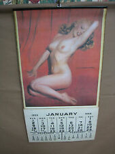 VINTAGE RISQUE RETRO ART MARILYN MONROE 1955 PIN UP POSTER CALENDAR