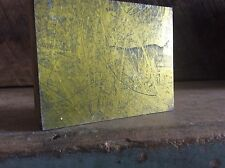 Vintage Brass ? Newspaper Ink Plate Type On Wood Block , Hunting Dog