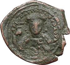 Constantine X Ducas 1059Ad Large Ancient Byzantine Coin Jesus Christ i48290