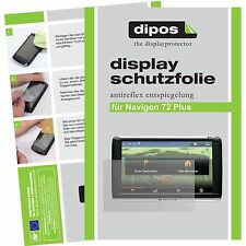 2x Navigon 72 Plus Schutzfolie matt Displayschutzfolie Folie dipos Displayfolie