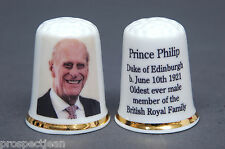 Prince Philip b.June 10th 1921 Oldest Ever Male Member Royal FamilyThimble B/137