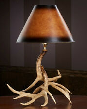 Whitetail Antler Table Lamp, 19x25, Rustic Living Room, HP-66601 Hughes Products