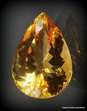XL Faceted Natural Citrine Gemstone 18.40ct Unbehandelt Citrin Edelstein