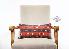 Boho Chic Lumbar Pillow Turkish Embroidered Kilim Rug Cushion Cover Sofa Throw