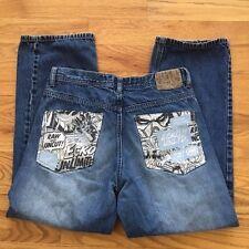 Ecko Unltd Mens 32 x 29 Graphic Design Pockets Denim Jeans Pants