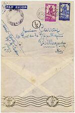 FRENCH SAHARA WW2 KAYES AVION CANCELS 1942 + MARSEILLE GARE MACHINE + L0 CIRCLED