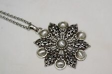 New Brighton Barcelona Silver Detailed Pendent Long Chain Altered Necklaces